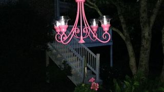 , So pretty at night and I might try one like yours next for the birds Thanks for sharing