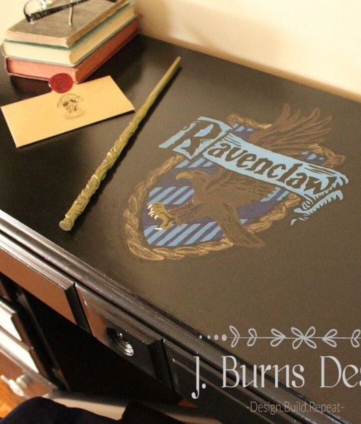 harry potter inspired desk makeover, how to, painted furniture