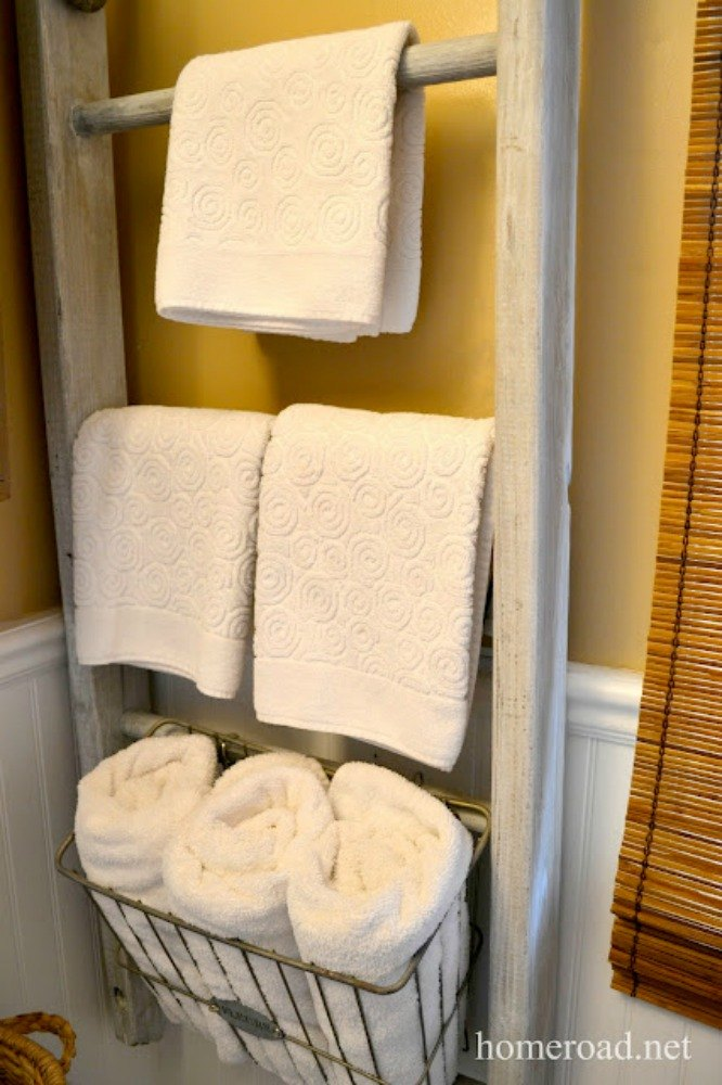 Hang A Ladder On Your Wall For Towels