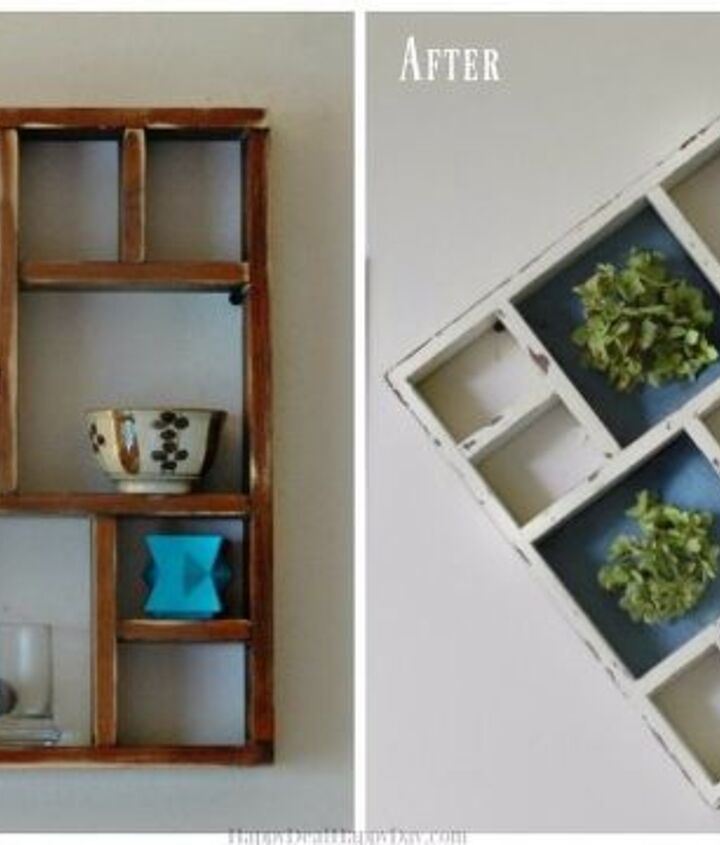 shabby chic display shelf makeover, painted furniture, rustic furniture, shabby chic, shelving ideas