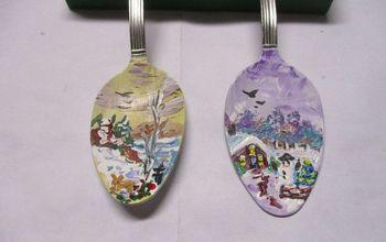 Re-purposed Metal Teaspoon / Christmas Tree Ornament