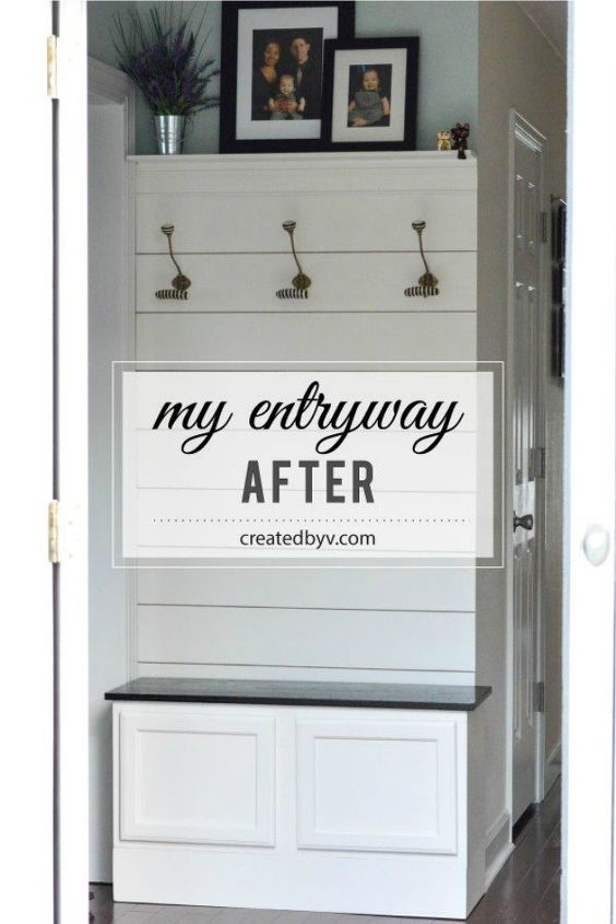 s impress your guests with these expensive looking entryway ideas, Build your own mudroom with a shiplap wall