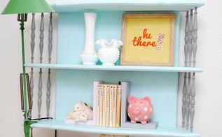 vintage floating shelf makeover, bedroom ideas, home decor, painted furniture, painting, shelving ideas
