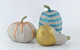 easy painted diy concrete pumpkins, concrete masonry, crafts, seasonal holiday decor