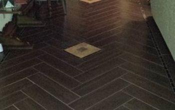 DYI Herringbone Tile Floor