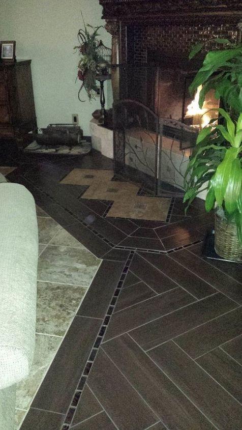 dyi herringbone tile floor, flooring, tile flooring