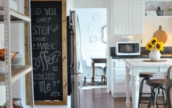 Kitchen Update & the Quickest DIY Chalkboard Ever