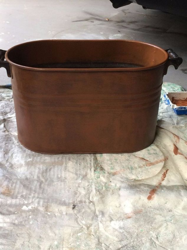 Easy Faux Copper Finish on Old Tub | Hometalk