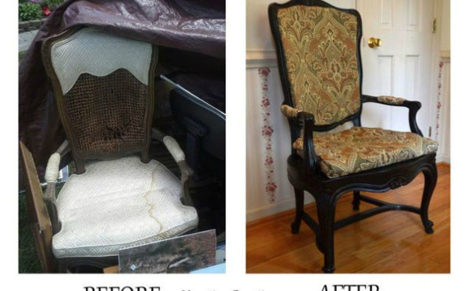 s don t overlook these 13 common garage sale finds, garages, A broken antique chair that s seen its days