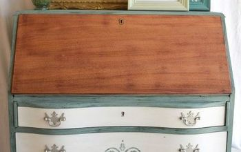 governor s desk meets old fashioned milk paint, painted furniture, painting