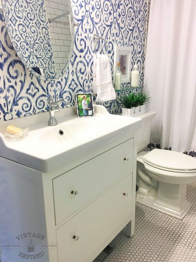 blue white bathroom makeover bathroom ideas home decor home improvement - Bathroom Ideas Blue And White
