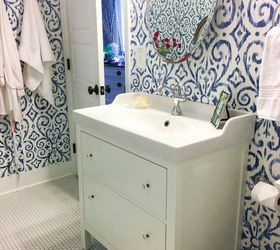 Blue And White Bathroom Decorating Ideas Part - 48: Blue White Bathroom Makeover, Bathroom Ideas, Home Decor, Home Improvement