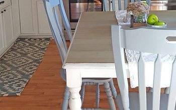 diy farmhouse table makeover, dining room ideas, painted furniture