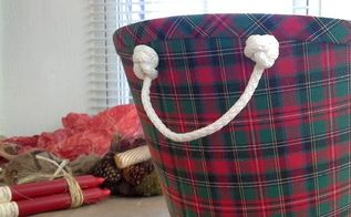 repurposed lamp shade gift basket, christmas decorations, repurposing upcycling, seasonal holiday decor