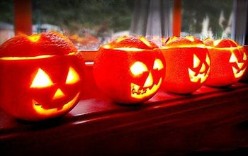 easy scented jack o lantern tea lights, crafts, halloween decorations, home decor, seasonal holiday decor