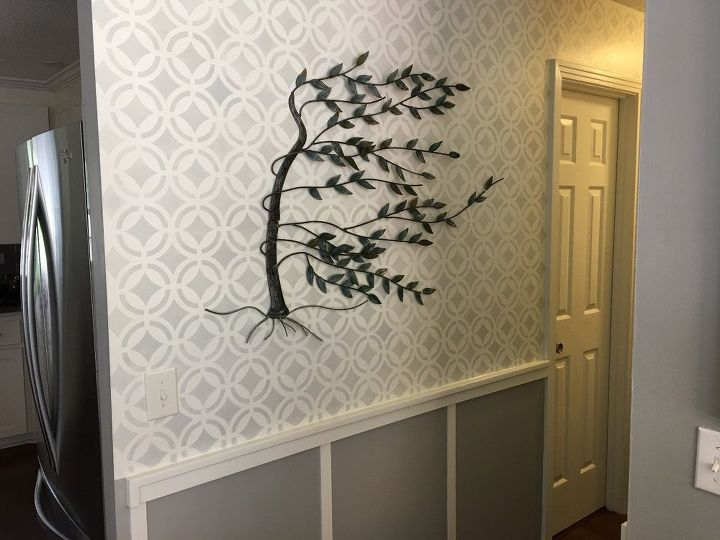 stenciled hallway finally finished, wall decor