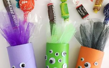 Halloween Monster Candy Tube Craft