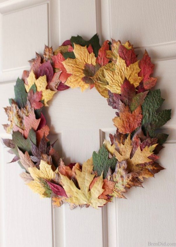 s why everyone is excited to rake leaves this fall, gardening, They can be ironed into a stunning wreath