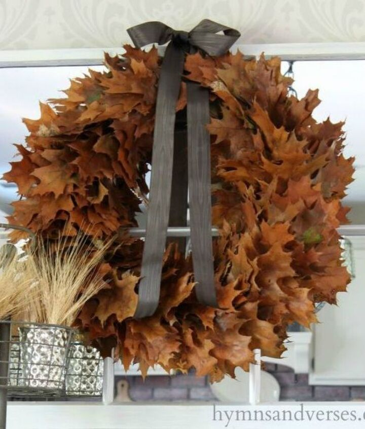 s why everyone is excited to rake leaves this fall, gardening, They make a beautiful wreath