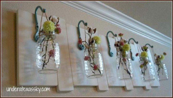s if the space above your headboard is blank here s what you re missing, A place to show your love for mason jars