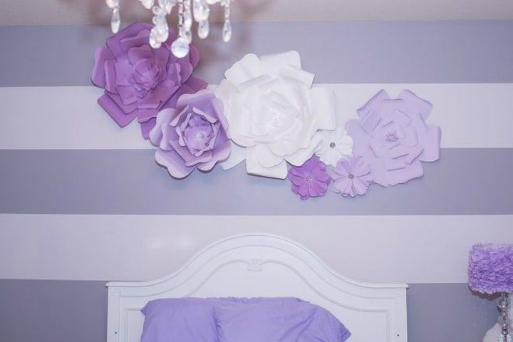 s if the space above your headboard is blank here s what you re missing, These gorgeous large paper flowers