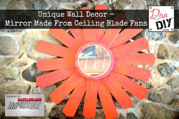 s if the space above your headboard is blank here s what you re missing, A homemade sunflower mirror