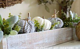 no sew mini fabric pumkins, crafts, how to, seasonal holiday decor