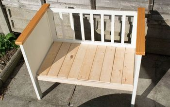 Turn a Crib (baby Cot) Into a Bench