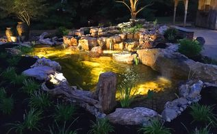 amazing outdoor living display, concrete masonry, landscape, lighting, outdoor living, ponds water features, woodworking projects