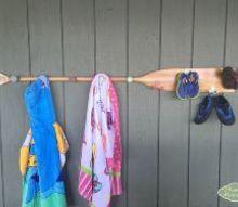 paddle towel rack, decks, home decor, tools