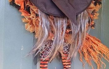 It's FallYa'll- Create Your Own Halloween Witch Wreath  With Deco Mesh