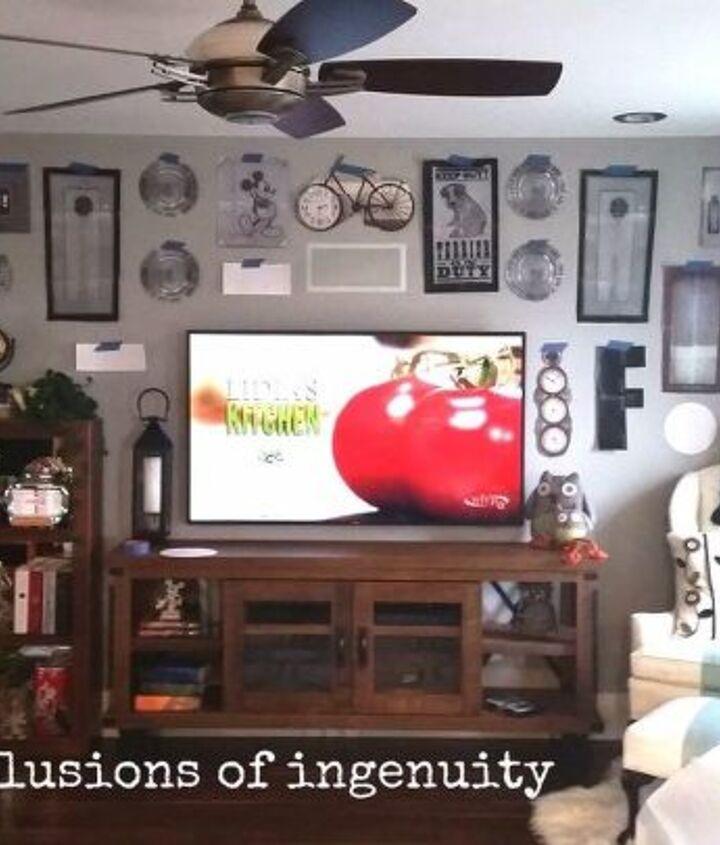 big screen tv gallery wall, home decor, pest control, wall decor