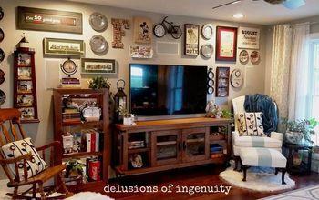 Big-Screen TV/Gallery Wall