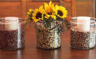 easy fall decorating with apothecary jars, crafts, gardening, home decor, mason jars