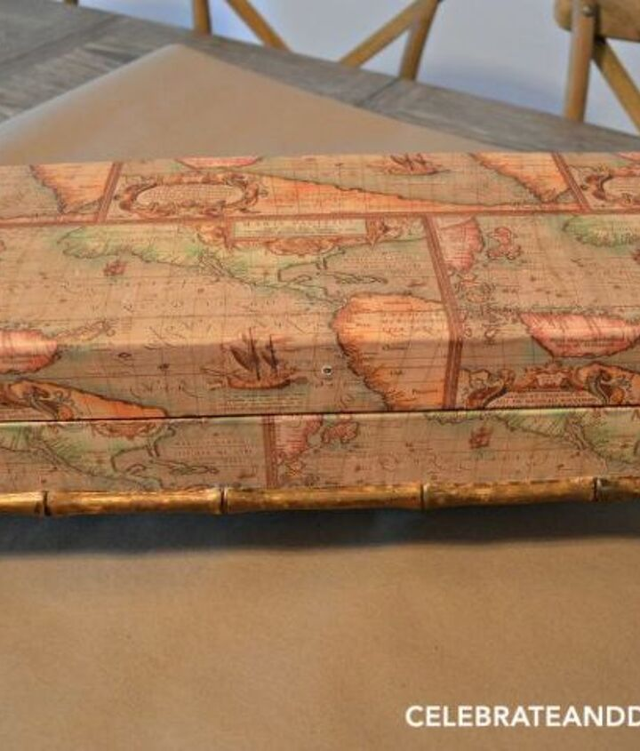 change the look of a catch all box , decoupage, home decor, organizing, repurposing upcycling