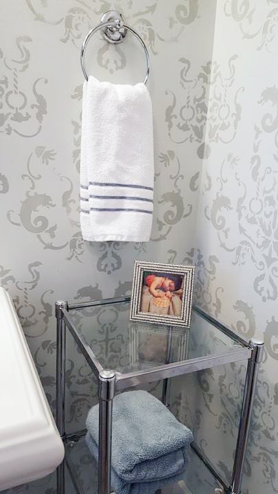 Create An Inviting Bathroom With Stencils Ideas Home Decor Improvement