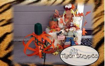 how to make a metal orb pumpkin, crafts, how to, seasonal holiday decor