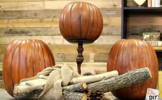 how to make a fake pumpkin look realistic, crafts, how to, seasonal holiday decor