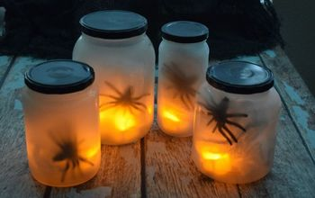 flickering spider lights, crafts, halloween decorations, seasonal holiday decor