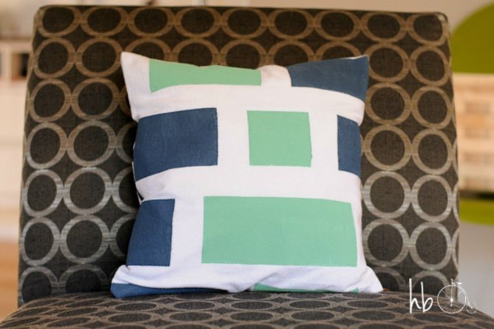 s 13 ways you never thought of using painter s tape in your home, home decor, painting, Create your own colorful custom fabric