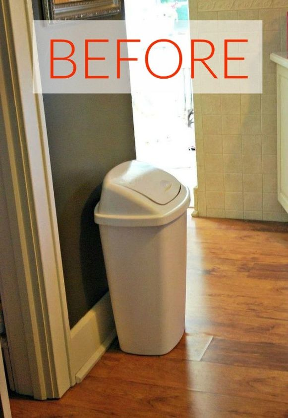 s hide your home s eyesores with these 11 brilliant ideas, home decor, The eyesore An ugly trash can