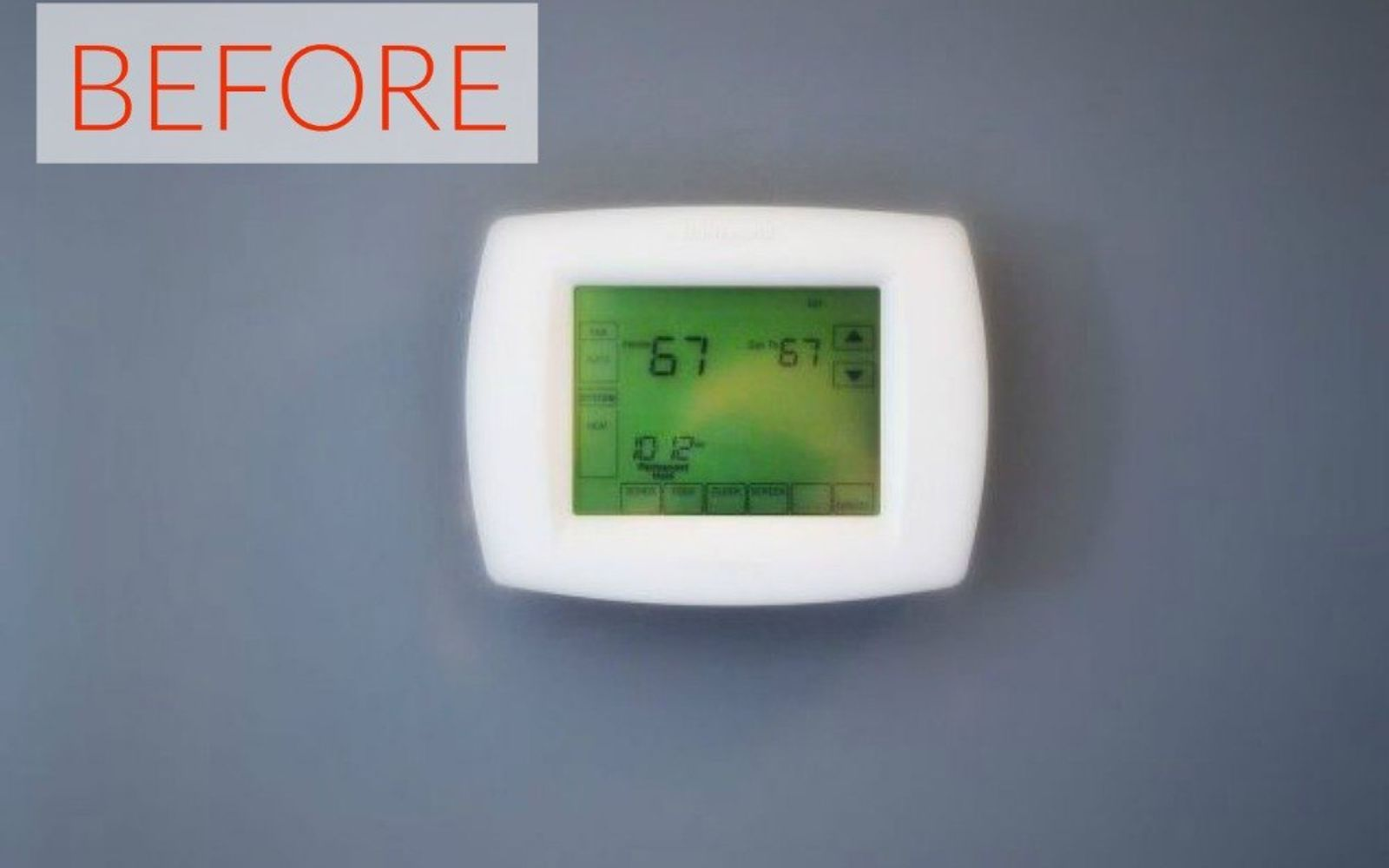 s hide your home s eyesores with these 11 brilliant ideas, home decor, The eyesore Your average wall thermostat