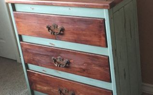 abused chest of drawers goes from boyhood beaten to rustic gorgeous , painted furniture