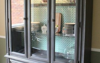 China Hutch Makeover With Chalk Paint and Decoupage Paper