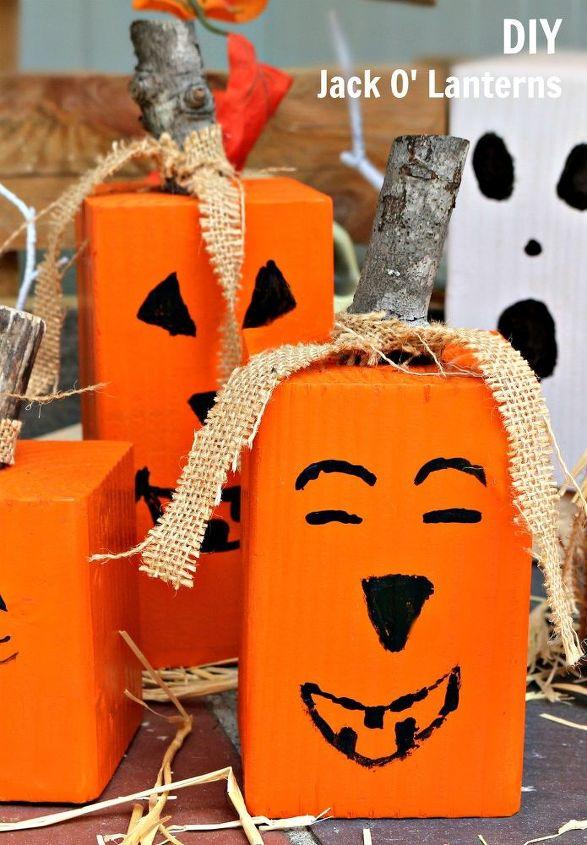 halloween jack o lanterns, crafts, halloween decorations, seasonal holiday decor