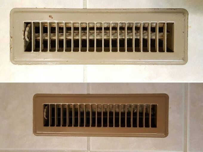 how to easily transform old floor vents to brand new, flooring, hvac, painting