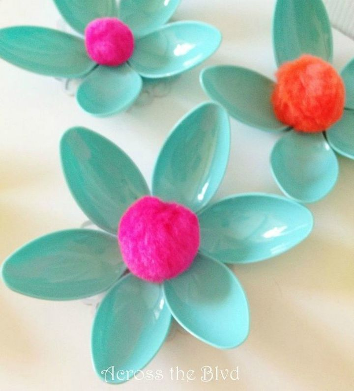 s 11 brilliant ways to reuse plastic spoons, Or into small pretty flowers