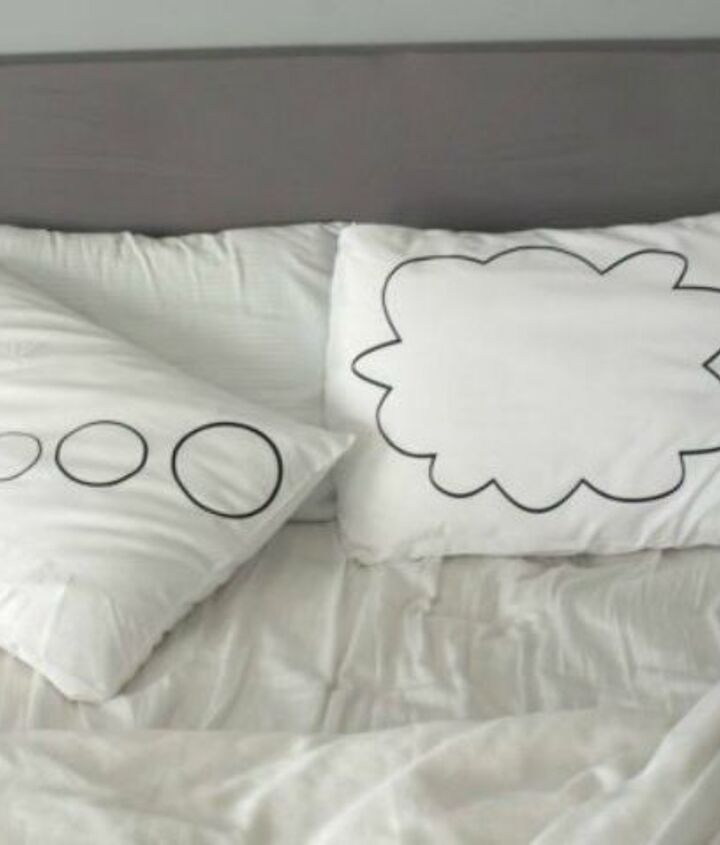 s sleep better at night with these 9 cleaning bed hacks, cleaning tips, 4 Fluff your pillows with tennis balls