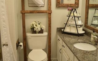 bathroom ladder, bathroom ideas