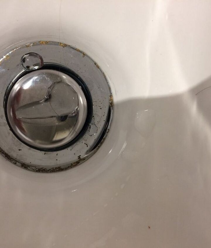 q what can i do with spot of rust on the chrome of my bathroom sink , cleaning tips, house cleaning